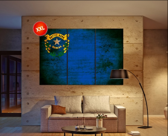 nevada state flag  canvas nevada state flag  wall decoration nevada state flag  canvas art nevada state flag  large canvas