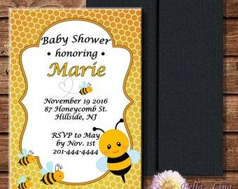 Bumblebee Babyshower Invitation