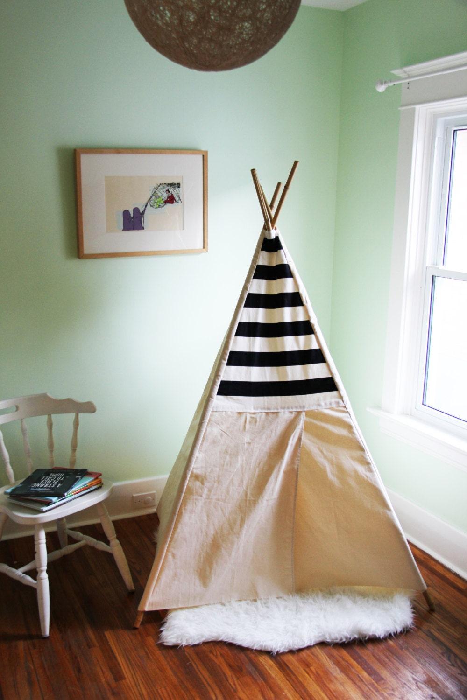 Jouer tente toile panneau de tissu sur mesure tipi maison for Tente tipi exterieur
