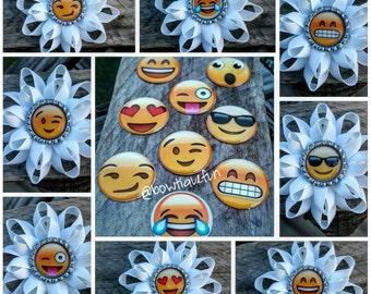 emoji hair bow, emoji bow, emojis, girls hair bow, bows, expressions, hair bows, bow