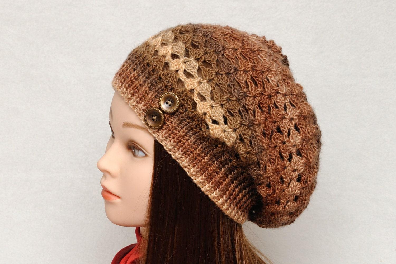 womens hats crochet hat slouchy hat slouchy beanie