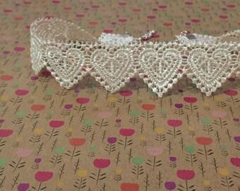 Heart Lace Choker Necklace