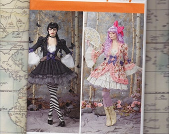 Plus Size Gothic Lolita Costume Pattern, Simplicity 1330