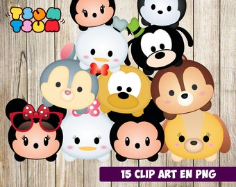 15 Disney Tsum Tsum Characters, Tsum Tsum Party, Disney Birthday, Baby shower, Party Supplies, Disney Characters