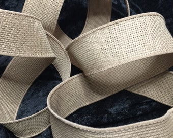 1 1/2in x 125 ft  Rustic Natural Jute Burlap Wired Ribbon