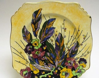 Royal Winton Grimwades Deco Plate Hand Painted