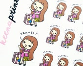 A009 | TRAVEL KEENACHI emotion stickers, Planner Stickers, travel stickers, going out stickers, adventure stickers, emotion stickers