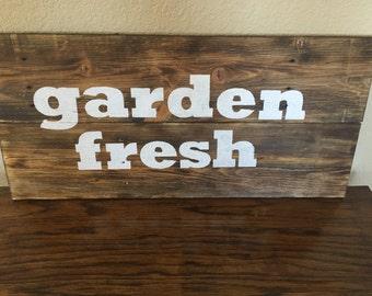 Garden Fresh pallet wood sign