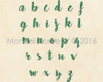 Glitter Parchment Alphabet