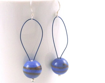 Powder Blue Glass Bead Earrings