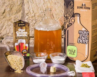 1 Gallon Pale Ale Beer Starter Kit || Brew Your Own Craft Beer || Men's Gift || Homebrewing Gift || All Natural Home Brewed Beer