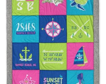 Sunset Beach (3) Destination Blanket