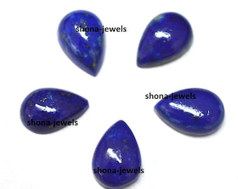Top quality lot of 25 pic.Blue Lapis Lazuli 3X5 mm Pear cabochon loose gemstone with free shipping