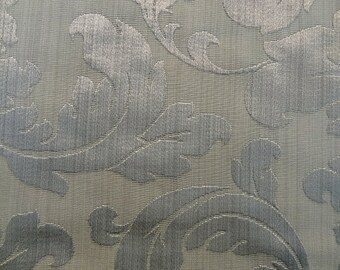 Large Floral Pattern Fabric in Ash Gray Color