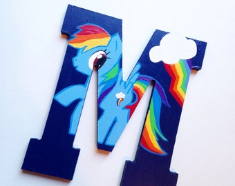 My little pony Custom Hand painted My Little Pony letters My Little Pony decoration custom wall letters wall decor USE COUPON