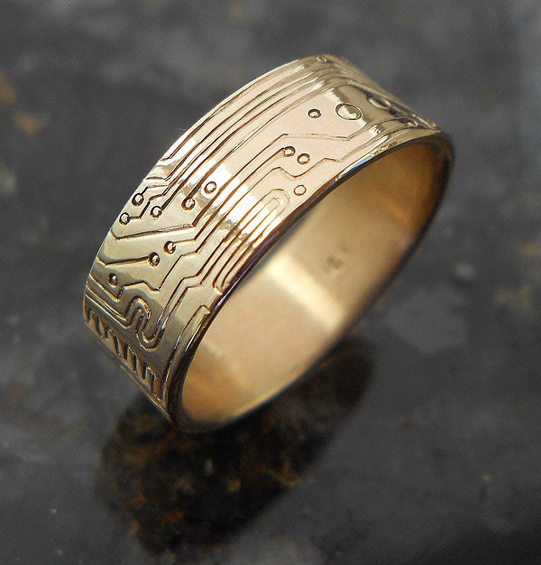 Custom Gold Circuit Board Ring By Bluekraken On Etsy