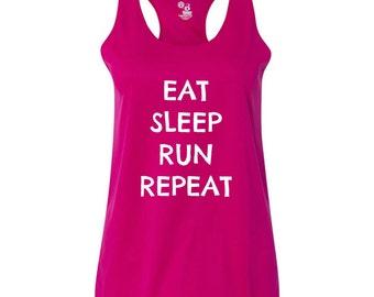 Eat Sleep Run Repeat Women's Fitness Tank