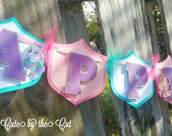 GIRLS Paw Patrol Banner