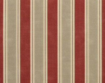 Red Curtains beige red curtains : Red stripe curtains – Etsy