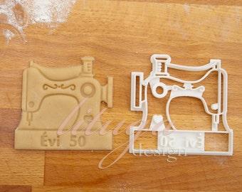 Personalized Sewing machine cookie cutter, fondant cutter, marzipan cutter, sewing theme