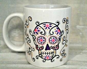 Candy skull mug