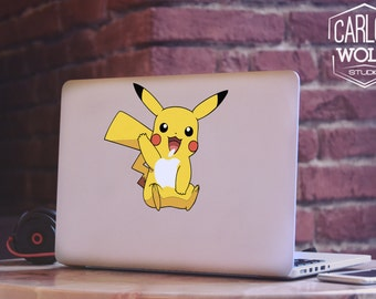 Pokemon Go Pikachu  Macbook Decal, Macbook Removable Sticker, Laptop Decal, Macbook Decal, Macbook Sticker MD042