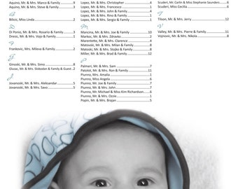 Baptism Seating Chart