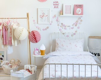 Flamingo Bedding - Children Bedding Set Toddler Bedding Set Nursery Bedding