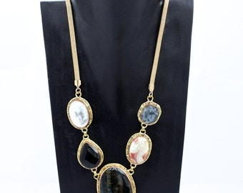 Beautiful Multi Gemstone Medley Necklace