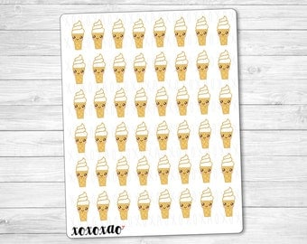 B038 | Ice Cream Cone Stickers