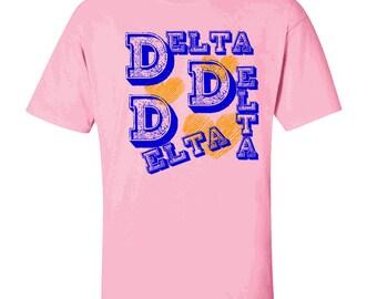 Delta Delta Delta Typographic Tee