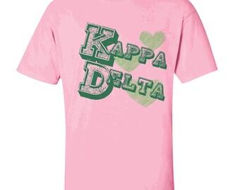 Kappa Delta Typographic Tee