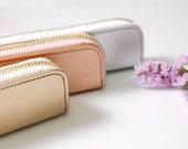 Pencil case, Pen case, Pencil pouch, Back to School, Cosmetic bag, Makeup bag, Vintage Pencil case, Leather pen case, Pen pouch
