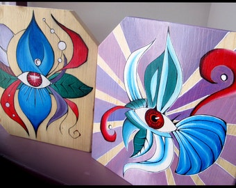 Small format paintings on wood