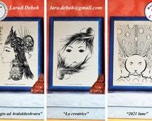 Kwan Yin print / Kannon / Buddha / Buddhism print / Woman print / Face / Face print / Art print / Jaguar / Cat print / art collection