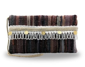 Kourelou bag in boho style with fringes and charms