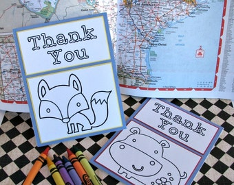 Color Me Thankful Note Cards