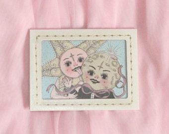 star-kissed lovers ~ a framed original (14.5 x 11 cm)