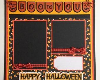 "Premade 12""x12"" Halloween Scrapbook Layout"