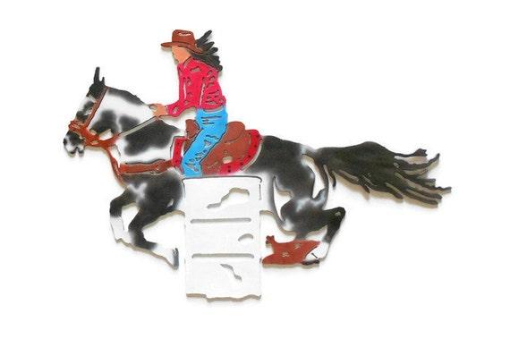 Https Www Etsy Com Listing 280999608 Metal Horse Decor Barrel Racing Art
