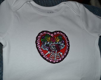 Day of the Dead Onesie size 18 months