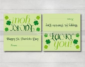 St. Patrick's Day treat bag topper, st patricks day kids, st patricks day tags, st patricks day party favor, happy st patricks day, bag tags