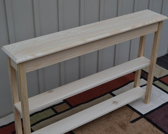 Narrow console table etsy for Narrow console table with shelves