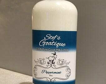 8oz Peppermint Goat Milk Lotion