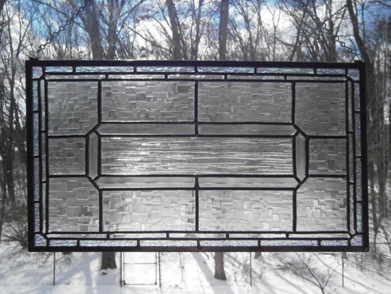Clear Leaded Glass : Clear leaded stained glass panel by downriverglass on etsy