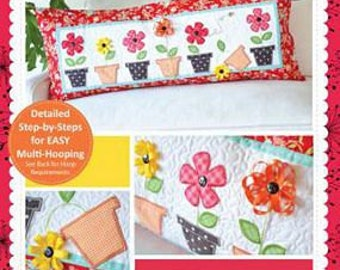 May Flowers Bench Pillow ME CD By Kimberbell Designs #kd521