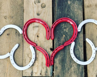 Horseshoe Heart With Wings