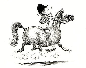 1962 thelwell horse print