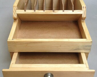 EN BOIS PINCES support avec stockage tiroirs banc outil organisateur bois