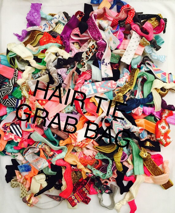 Elastic hair tie grab bag//hair tie bracelet//hair ties//party favor//